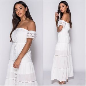 🆕Skyye White Off the Shoulder Bardot Dress